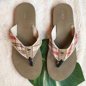 J. Crew Flannel Rubber Flip Flop Sandals